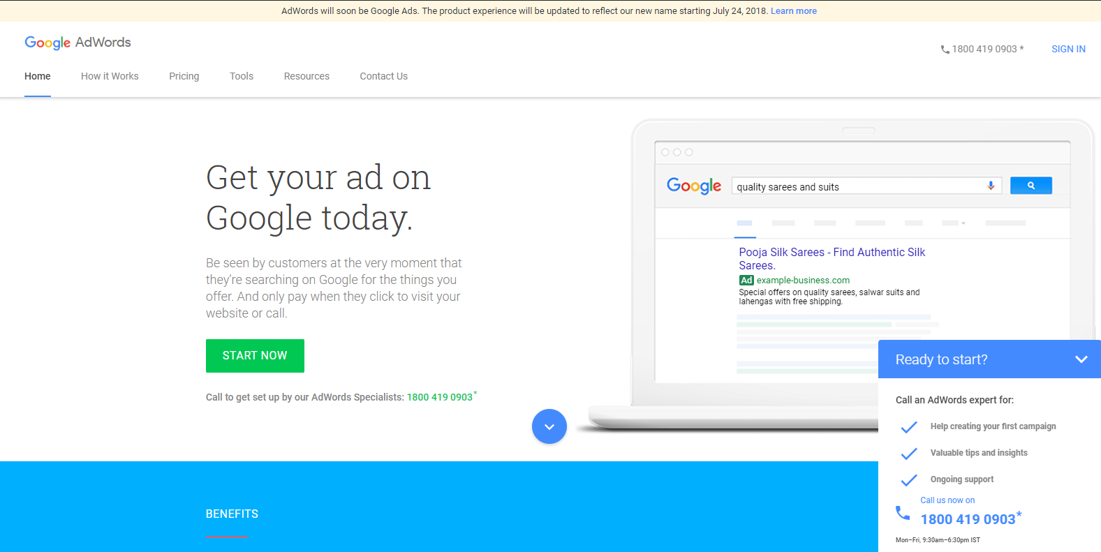 google display campaign set up