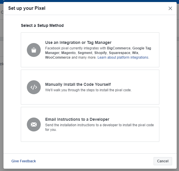 install facebook pixel code on website