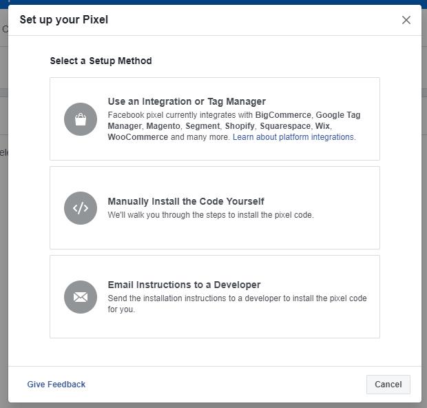 install facebook pixel code on website