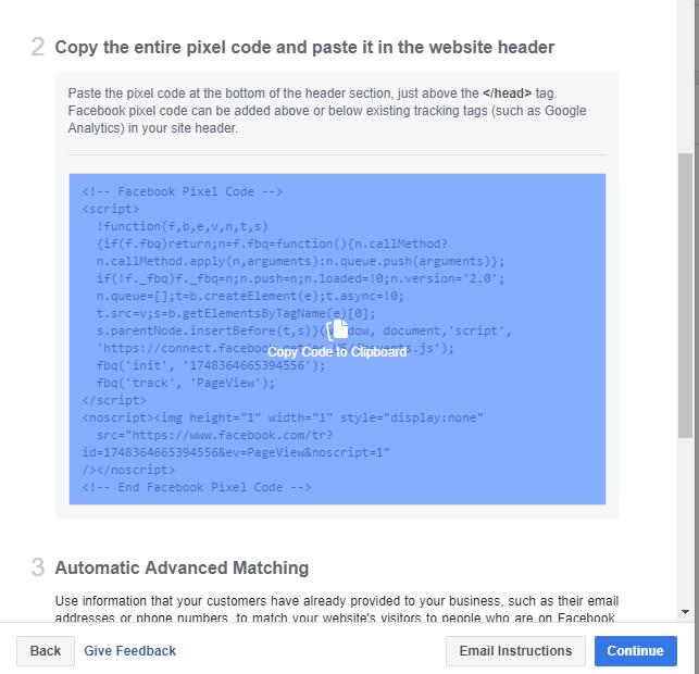 generate facebook pixel code